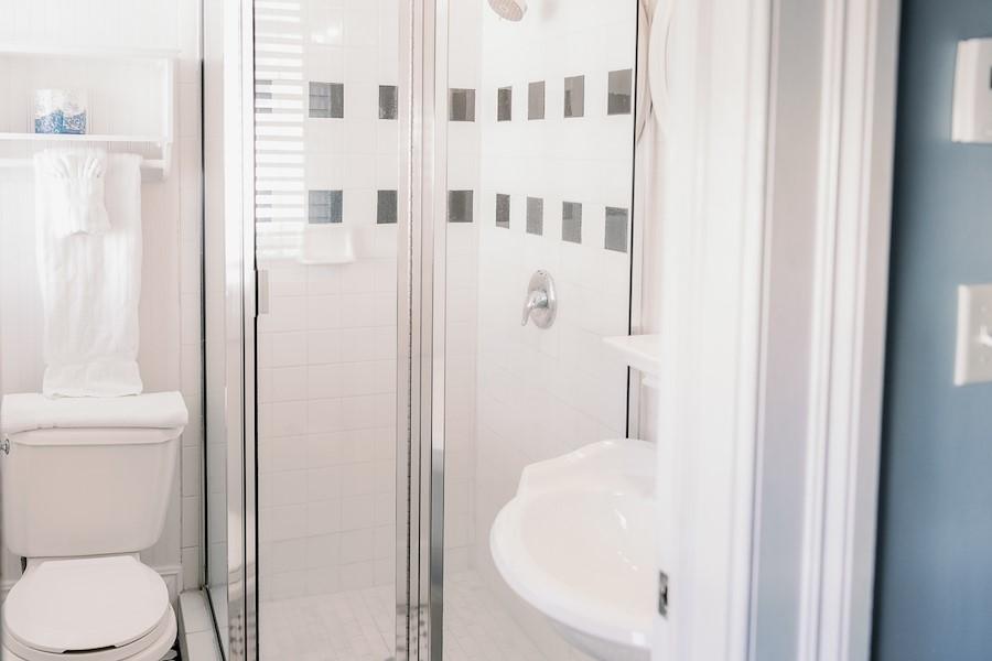 Bathroom at The Marshall House in Savannah, Georgia