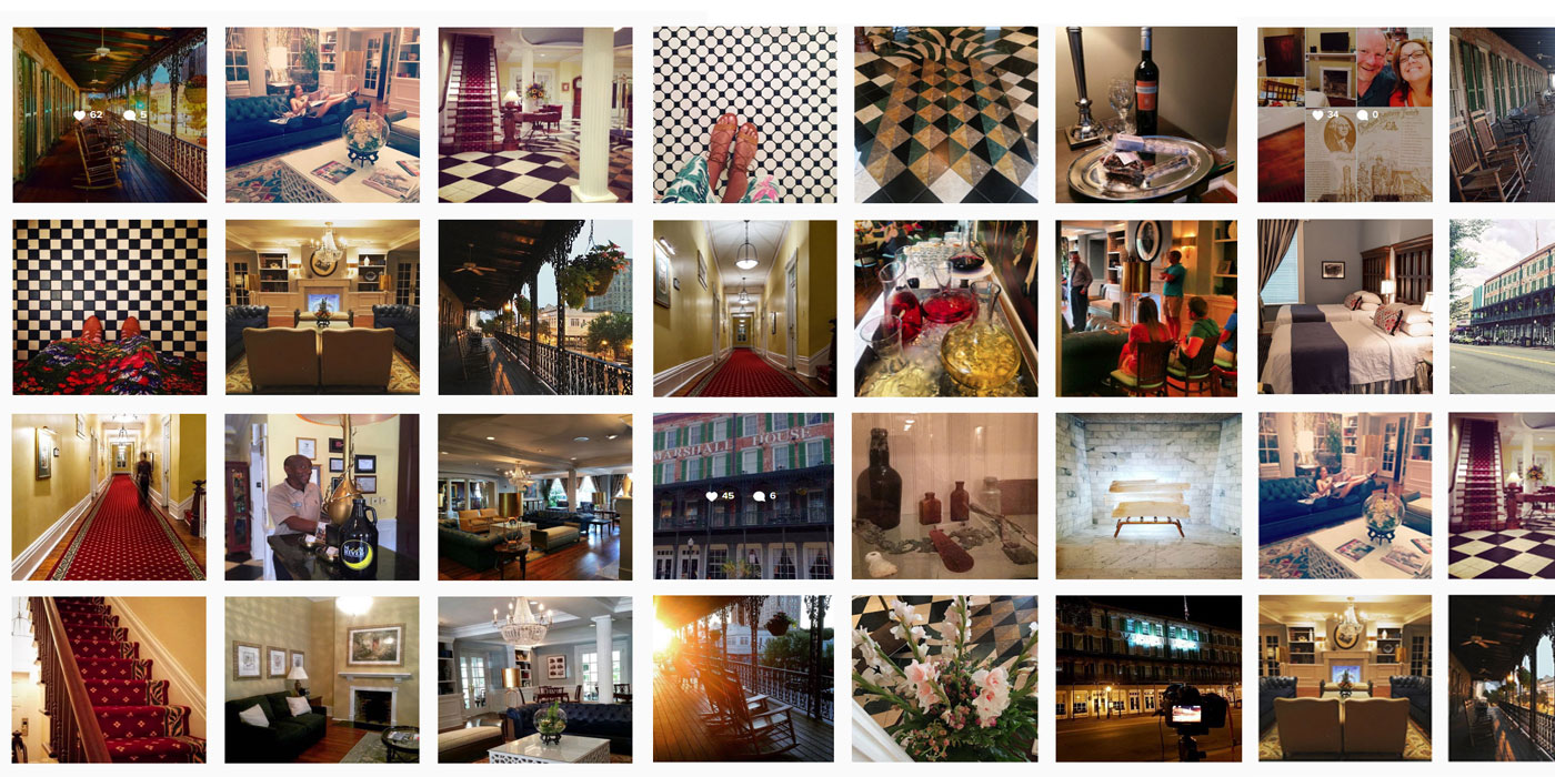 Social feeds for Savannah hotel