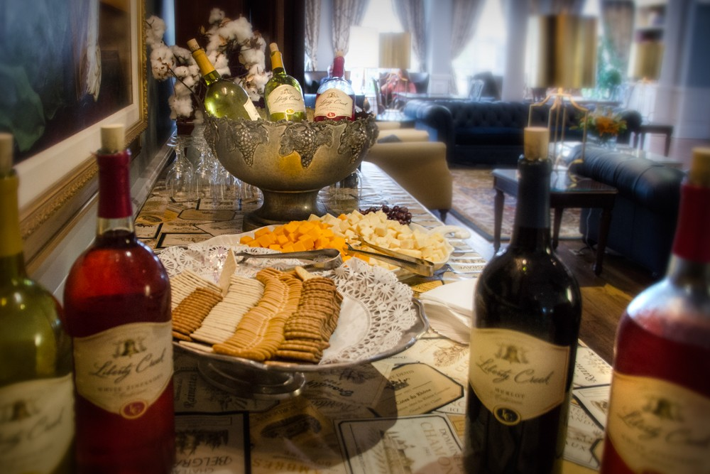 Complimenetary wine and cheese Sunday-Thursday