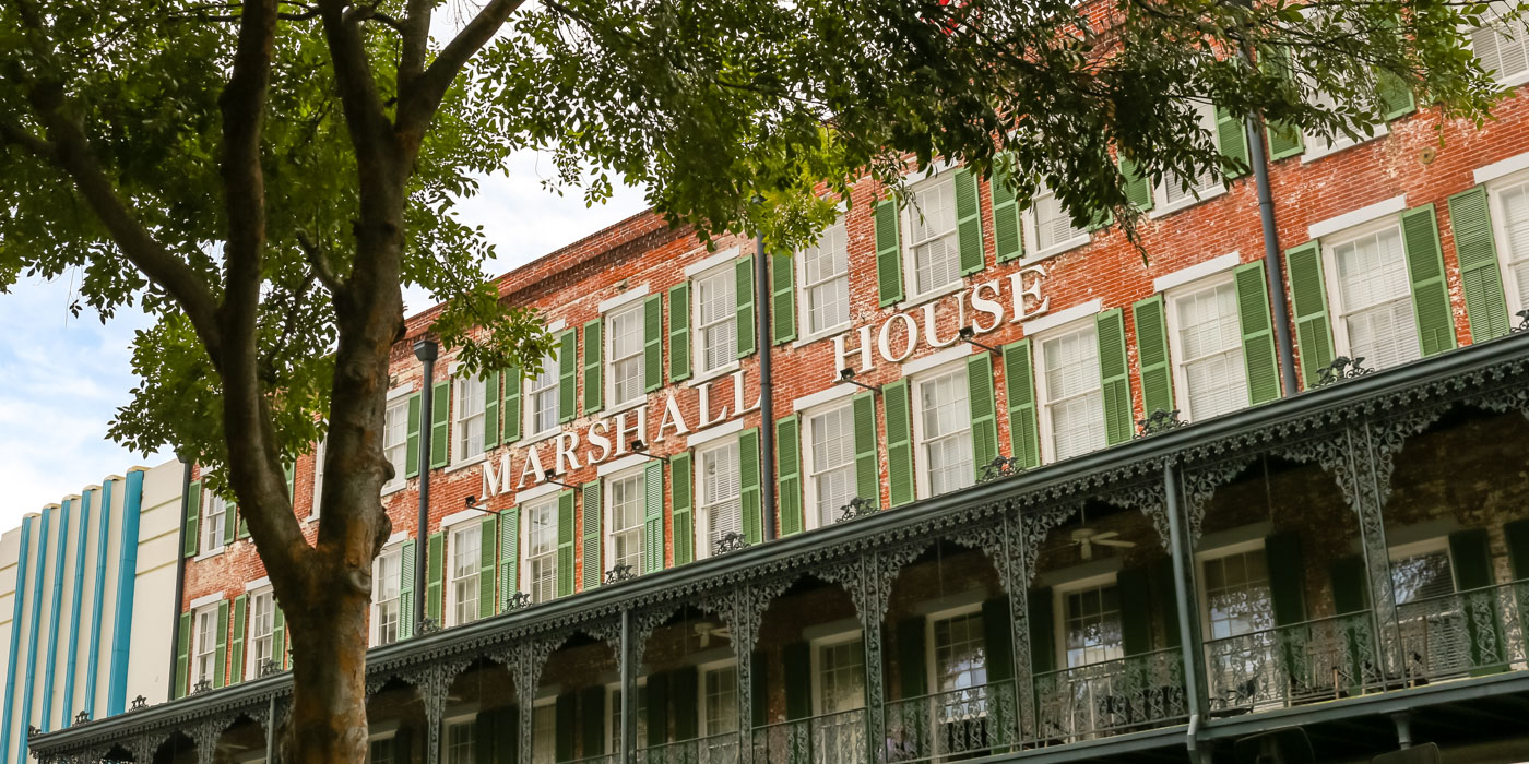 Boutique Hotel Amenities of The Marshall House Hotel in Savannah, Georgia