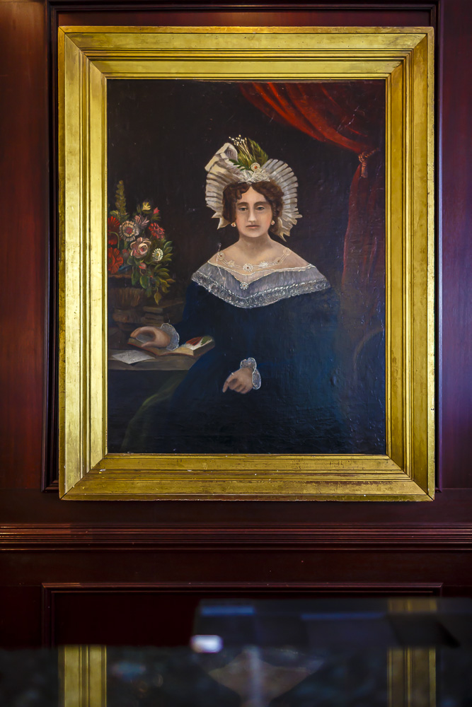 Portrait of Mary Marshall painted in 1830 by artist Peter Laurens.