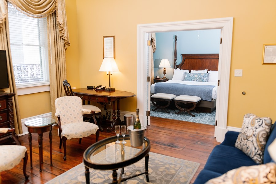 Inside the Mary Marshall Suite in Savannah, GA