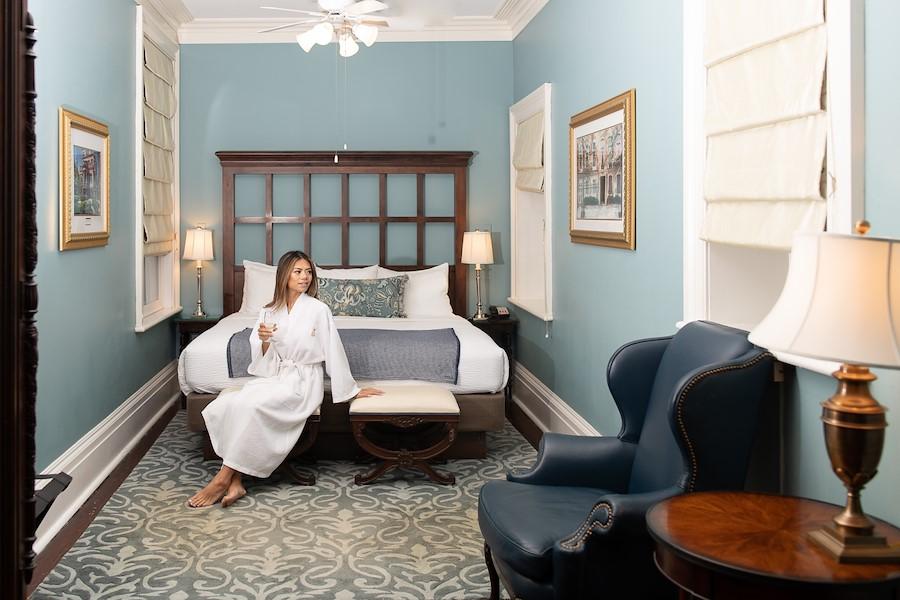 Inside our Luxury King Suite in Savannah