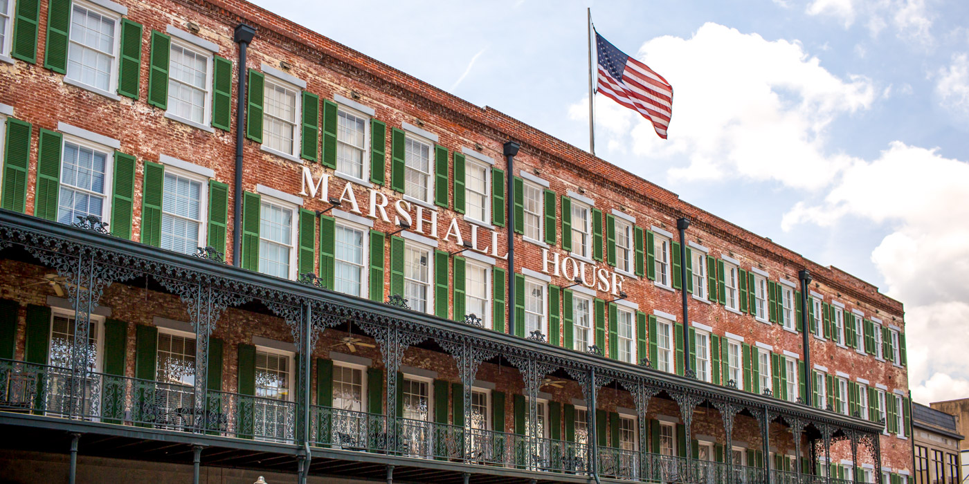 About The Historic Marshall House Hotel in Savannah